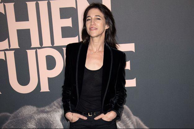 """Charlotte Gainsbourg à la première de """"Mon chien Stupide"""" le 22 octobre 2019 à Paris."""