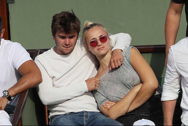 Chloé Jouannet et Zacharie Chasseriaud à Roland-Garros, le 8 juin 2018.
