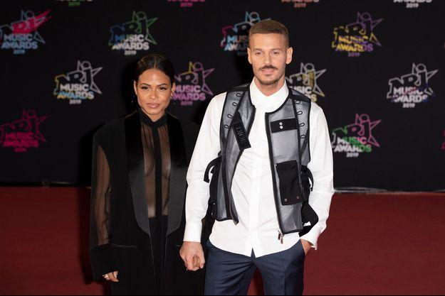 Christina Milian et Matt Pokora à Cannes en novembre 2019.