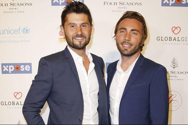 Christophe Beaugrand et son mari Ghislain Gerin à Paris, le 3 juin 2019.