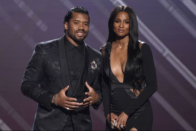 Russell Wilson et Ciara aux ESPY Awards en juillet 2019