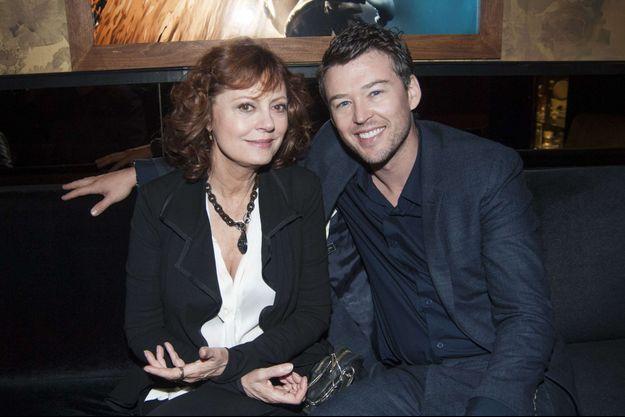 Susan Sarandon et son compagnon Jonathan Bricklin en octobre dernier à New York