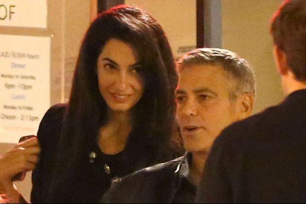 Amal et George à Los Angeles en mars dernier.
