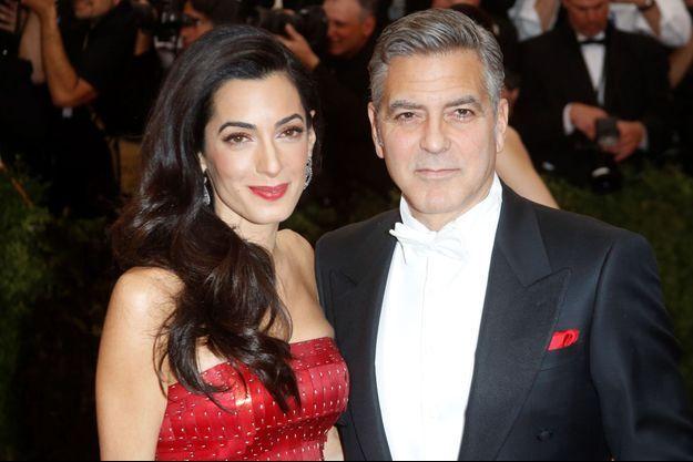 Amal et George Clooney à New York le 4 mai dernier.