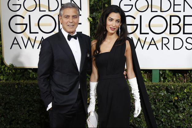 George et Amal Clooney aux Golden Globes 2015 le 11 janvier