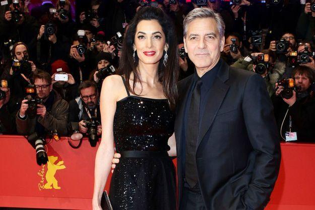 Berlin, tapis rouge pour la 66e Berlinale. Le 11 février, George Clooney accompagne une vedette, sa femme, Amal.