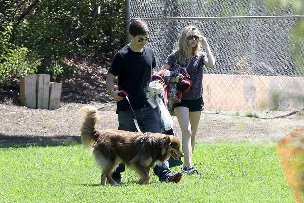 Amanda Seyfried et Justin Long à Los Angeles samedi.
