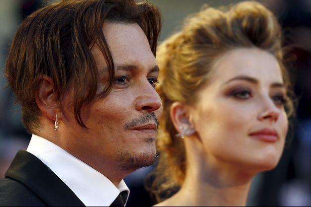 Johnny Depp et Amber Heard au Festival de Venise, en septembre 2015.
