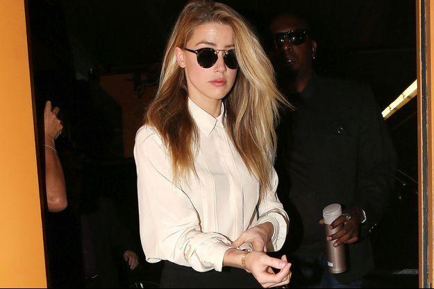 Amber Heard, le 6 août, lors de son arrivée au tribunal.