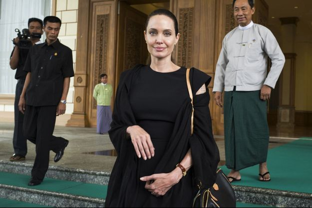 Angelina Jolie, photographiée ce mercredi 29 juillet à Naypyidaw.