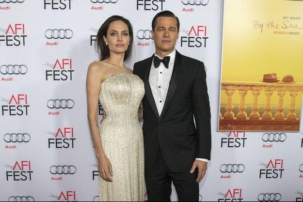 Angelina Jolie et Brad Pitt à Hollywood le 5 novembre 2015.