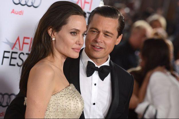 Angelina Jolie et Brad Pitt à Los Angeles le 5 novembre 2015.
