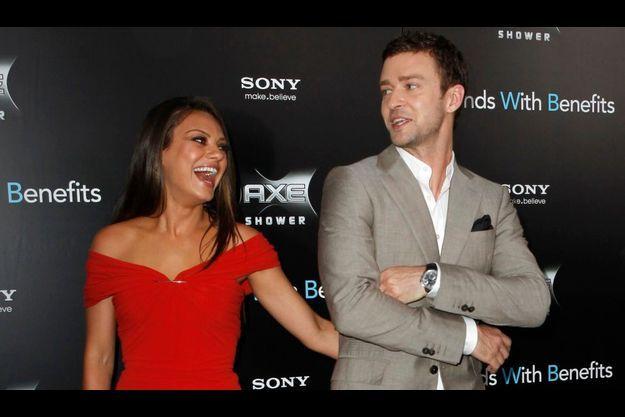 Les deux acteurs en juillet à New York pour la présentation du film «Sexe entre amis».