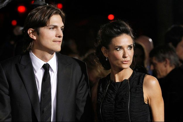 Ashton Kutcher et Demi Moore au temps du bonheur, en janvier 2011.