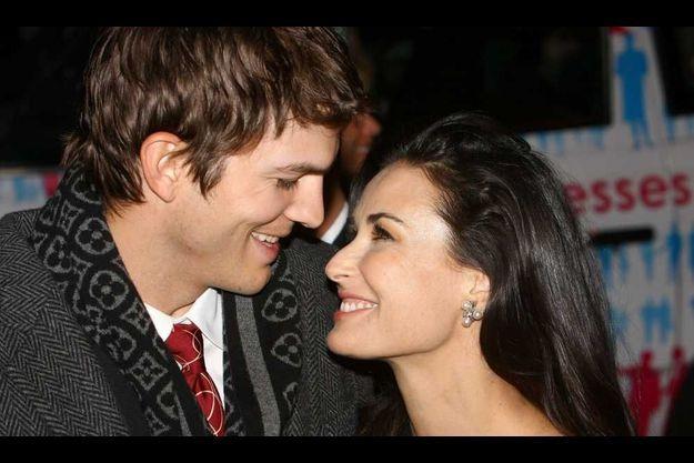 Ashton Kutcher et Demi Moore en 2008.