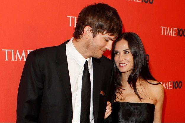 Ashton Kutcher et Demi Moore au temps du bonheur, en mai 2010.
