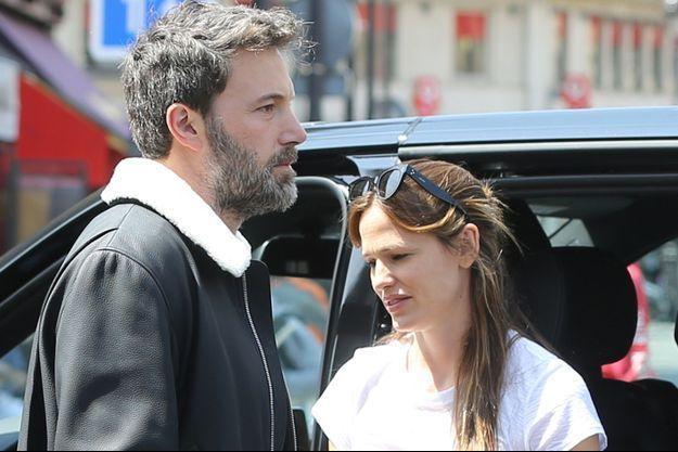 Ben Affleck et Jennifer Garner en vacances à Paris, le 8 mai 2016.