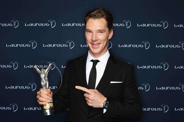 Benedict Cumberbatch à la cérémonie des Laureus Awards en mars 2014 à Kuala Lumpur.