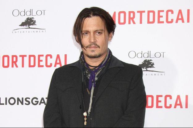 """Johnny Depp en janvier dernier pour l'avant-première du film """"Charlie Mortdecai"""""""