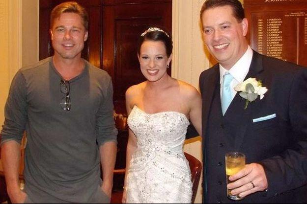 Brad Pitt et la mariée.