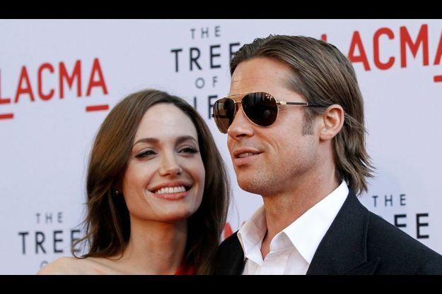 Angelina Jolie et Brad Pitt, à l'avant-première américaine de «Tree of Life»