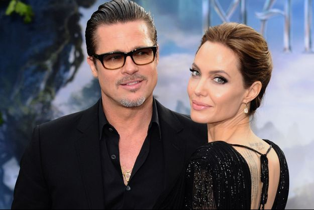 Brad Pitt et Angelina Jolie à Londres, le 8 mai 2014.