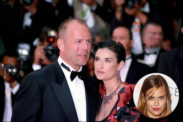 Bruce Willis et Demi Moore, ensemble, en 1997 et Tallulah, en mai dernier.