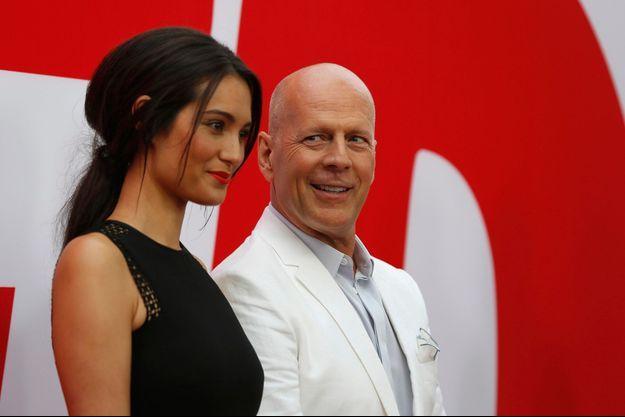 "Emma Heming et Bruce Willis en juillet dernier, lors de la première de ""Red 2""."