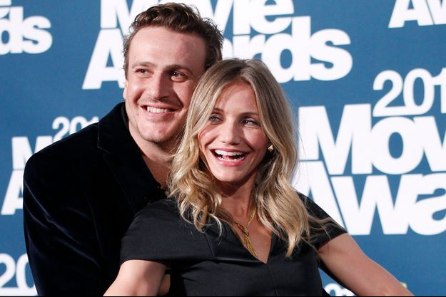 Cameron Diaz et Jason Segel, complices aux MTV Movie Awards, à Los Angeles en juin 2011.