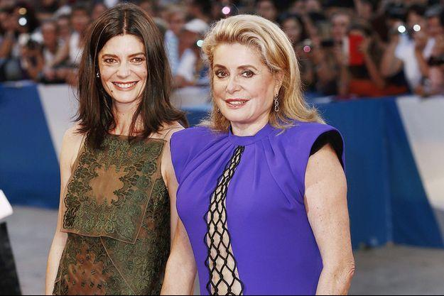 Chiara Mastroianni et Catherine Deneuve à la 71e Mostra de Venise, le 30 août 2014.