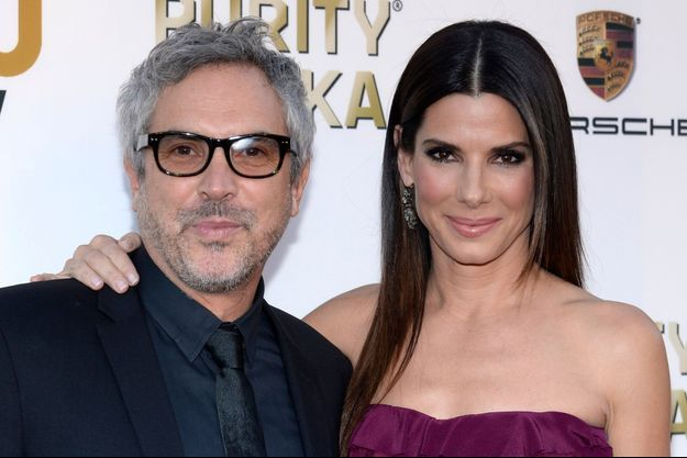 Alfonso Cuaron et Sandra Bullock aux Critics' Choice Awards