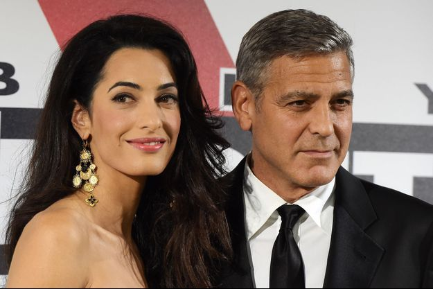 George Clooney et Amal Alamuddin au Palazzo Vecchio, le 7 septembre dernier.