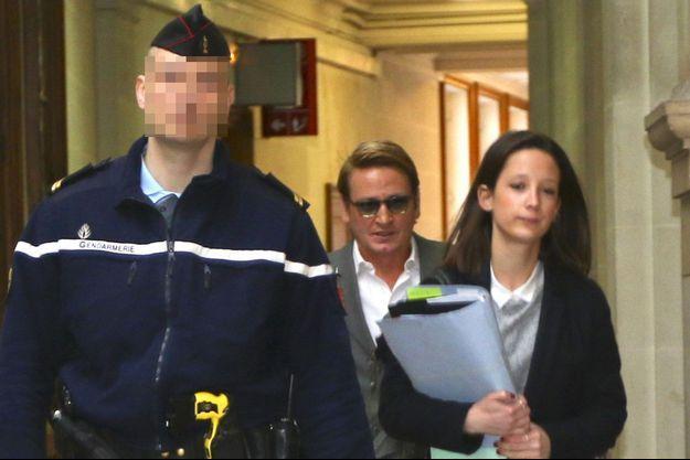 Benoît Magimel au palais de justice de Paris, mardi.