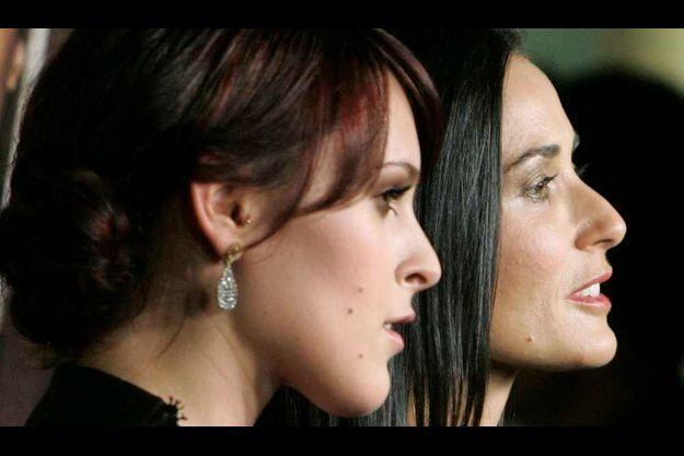 Rumer Willis et Demi Moore en 2009.