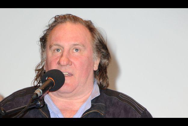 Gérard Depardieu, lundi, à la Cinémathèque française.