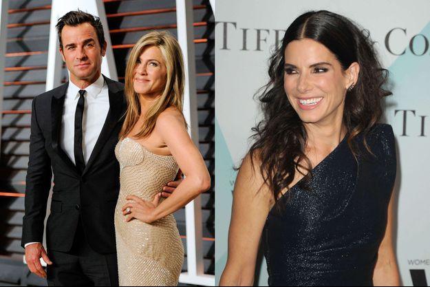Jennifer Aniston et Justin Theroux ont rejoint Sandra Bullock et son nouveau compagnon pour un dîner.