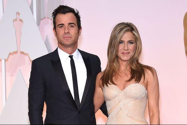 Justin Theroux et Jennifer Aniston aux Oscars 2015, le 22 février dernier.
