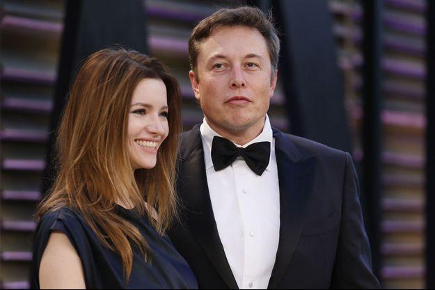 Talulah Riley et Elon Musk, réconciliés, en mars 2014.