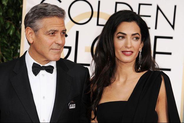 Amal et George Clooney aux Golden Globes Awards le 11 janvier dernier