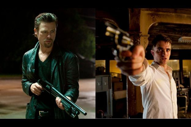 "Brad Pitt dans ""Killing Them Softly"", Robert Pattinson dans ""Cosmopolis""."