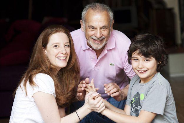 Francis Perrin, Gersende et Louis en 2012