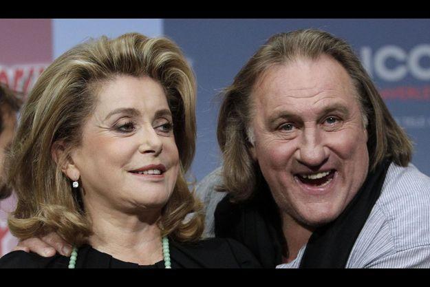 Catherine Deneuve et Gérard Depardieu.