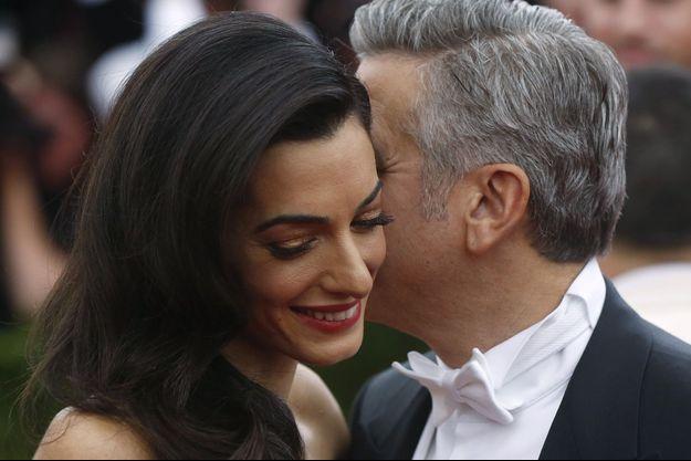 George et Amal Clooney à New York, en mai 2015.