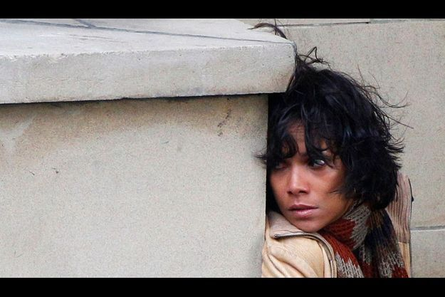 "Halle Berry sur le tournage de ""Cloud Atlas"", à Glasgow."