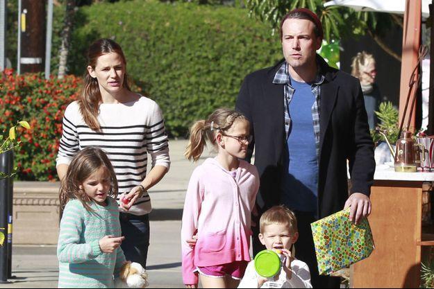 Jennifer Garner, Ben Affleck et leurs trois enfants.