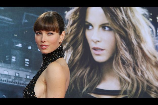 "Jessica Biel à la première allemande de ""Total Recall""."
