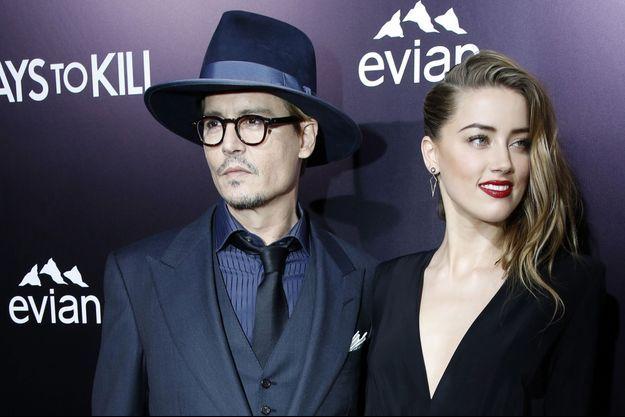 Johnny Depp et Amber Heard en février 2014.