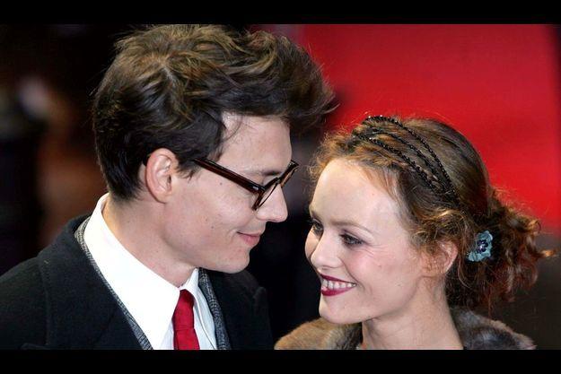 Johnny Depp et Vanessa Paradis en 2004.