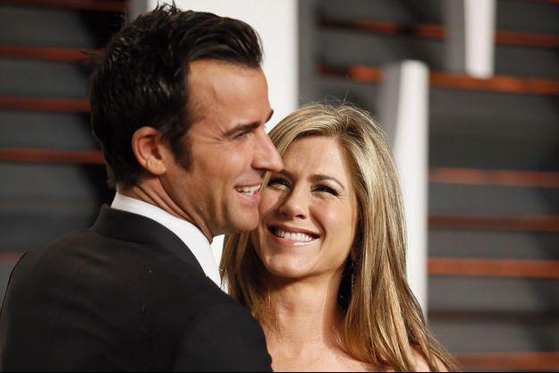 Jennifer et Justin, à la soirée Vanity Fair, le 22 février 2015.