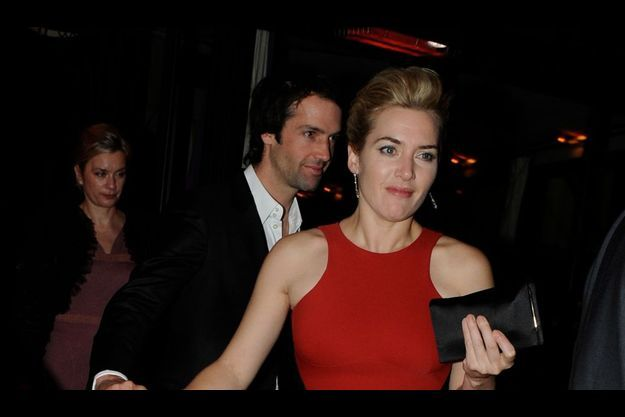 Kate Winslet et Ned Rockn'Roll, à Paris.